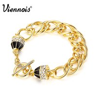 10k gold bracelet - 2015 Viennois Summer Fashion Jewelry k Gold Bangles Austrian Rhinestone Woman Chain Bracelet