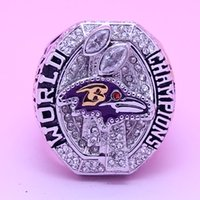 super bowl ring - High Quality Baltimore Ravens Copper Planted Ravens National Football Super Bowl Championship Rings Replica For Fans Collection