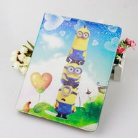 apple ipad discounts - ipad air case Minions Flip sleep wake PU leather cases Minion Despicable Me degree stand holder for ipad mini air discount