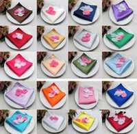 Wholesale Satin Solid Square Handkerchief Hanky Napkin Banquet Wedding Party