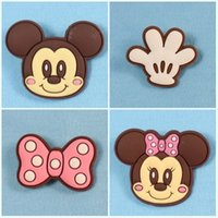 african animal crafts - Cute Mickey brooch pin carton brooch button badge pin good for DIY craft bag decoration