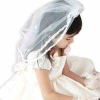 Wholesale Newest Lace Veil and Tiara Set for Wedding Accessories Beautiful Crystals Girls Head Pieces with Comb