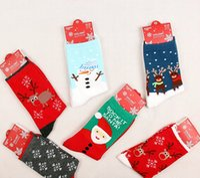 Wholesale Christmas Socks for Women New Dhl Children Long Winter Socks Hosiery Cotton Santa Claus Christmas Gifts Cheap B322