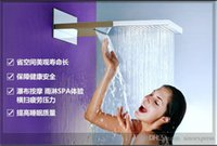 Wholesale Luxury Large Brass Construction Concealed Waterfall Bathroom Shower Set Rainful Shower Faucet Mixer Tap emergi