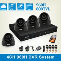 Wholesale ZOSI HDMI CH DVR WITH GB HDD xHD TVL Color CMOS FULL D1 IR CUT outdoor DOME CAMERA CCTV SYSTEM surveillance system DVR KIT