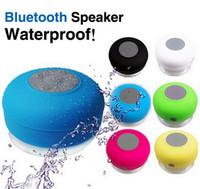 Wholesale 2016 Hot Item Portable Waterproof Wireless Bluetooth Speaker Shower Hands free Suction Car Mic