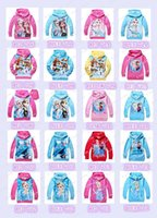 Wholesale 20 styles cotton Baby Girls Elsa Anna Princess Olaf Hoodie Long Sleeve Terry Hooded Jumper Cartoon Hoodies Outerwear Kids Clothing