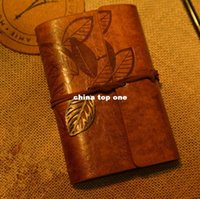 Wholesale New Vintage PU Leather Key Leaf String Bound Blank Diary Notebook Journal Travel