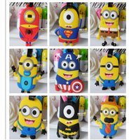 Wholesale Despicable Me Minion Cute Silicone Luggage Tag Cartoon Trolley Baggage Luggage Tags Name Tag for Travel DM10179