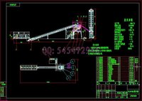 Wholesale HLS60 concrete mixing plant drawings Full Machining drawings ATUO CAD