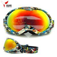 Wholesale Brand Genuine Kids Ski goggles UV400 Lens Anti fog Ski Glasses Muiti color snow goggles Child Eyewears Children Hot Sale