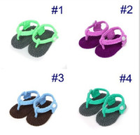 baby bootie knit - 2015 new style Hand hook weaving Knitting baby shoes Baby toddler shoes bootie flip flops pairs S040
