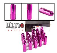 Wholesale NEW Style Pieces Set L mm Open ended Blox Forged Aluminum Lug Nuts Bule red blcack golden silver purple
