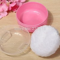Wholesale 2pcs New Baby Soft Face Body Makeup Cosmetic Powder Puff Sponge Container Box Case