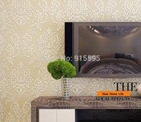 foam insulation - European Luxury Damask Wall Paper D Foam Flocking Non Woven WallPaper Livingroom Bedroom Tv Sofa Setting Mural Papel de parede