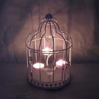 Wholesale Iron Candlestick oversized birdcage wedding decorative lantern ornaments creative boutique European sources