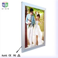 ad double - Durable LED Ad Lamp Boxes V W Double side Painting LED Advertising Display Equipment H Service Lifetime