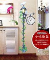 antique street clock - Large White Bird Street Lamp Light Home Wall Clock Wall Decal Sticker