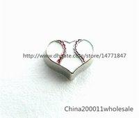 baseball magnet - 10pcs Baseball Heart Floating Charms FC1022 Fit Charms Locket Memory Living Magnet Glass Floating Locket
