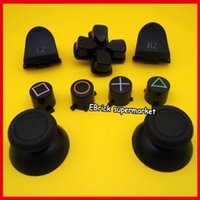 abxy buttons - 5sets ABXY Full Set Buttons L2 R2 Trigger Button Joystick Thumbstick Cap For PS4 controller
