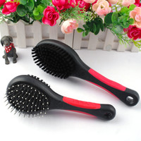 Wholesale MOQ Double Sides Dog Cat Comb Pet Faced Brush Pet Long Fur Grooming Cleaning Tool