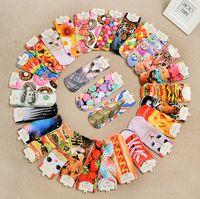 Wholesale Brand New D Printed Socks Women New Unisex Cute Low Cut Ankle Socks Multiple Colors Cotton sock Women s Casual Charactor Socks