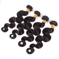 best black hair dyes - Brazilian Hair Virgin Human Hair Weaves Extensions Peruvian Malaysian Indian Cambodian Virgin Hair Body Wave Bundles Dyeable A Best Quality