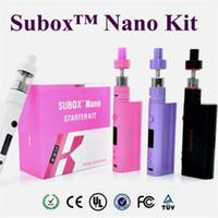 Wholesale Kanger Subox Nano Starter Kit Vape Mod with ML Subtank Nano Atomizer W Kbox nano colors VS kangertech subox mini starter kits