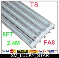 fluorescent bulbs - Fast delivery X25 T8 FA8 Single Pin LED Tube Lights FT W Lm Bulbs SMD MM feet LED Fluorescent Tube Lamps V