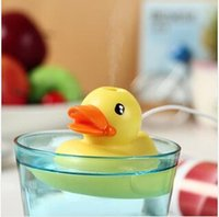 air water purification - 2pcs LJJC1961 Small Yellow Duck USB Mini Portable Aromatherapy Home Humidifier Aroma Diffuser Air Purification Float Water Humidifier