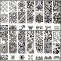 stamping - New Black Flower Lace CM Nail Stamping Plates Konad Stamping Nail Art Manicure Template Nail Stamp Tools