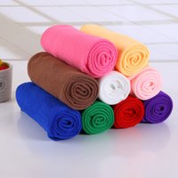 Wholesale 25 cm Microfiber Car Cleaning Towel Microfibre Detailing Polishing Scrubing Waxing Cloth Hand Towel