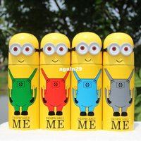 Wholesale 4 Color ML Despicable me Thermos Cup Stainless Steel Bottle Vacuum Flasks Thermoses Garrafa Termica Infantil Water Bottle