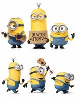 Wholesale PrettyBaby Cartoon Minions Wall Stickers for Kids Room Baby Despicable Me Wall Decal Home Decoration Wall Paper Art Stuart Mark Tim Posters