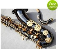 Wholesale EMS France s Selmer Salma B flat Tenor Sax instruments electrophoresis gold professional performance