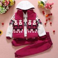 red monkey - Unisex Children s Outfits Autumn Monkey Long Sleeve Hoodies Zipper Waistcoat Casaul Trousers Set Red Blue Pink Burgundy M2015