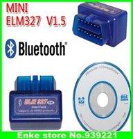 Wholesale hot sale top1 OBD2 Wireless Mini elm327 Works on Android Torque Latest Version V1 Super mini elm Bluetooth OBDii