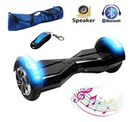 Wholesale Ships From USA New inch Hoverboard electric Scooter Bluetooth speaker LED light Wheel self balancing Scooter hover board