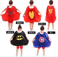 children smock - Avengers Dress smock Children s day show clothing Halloween children Batman Superman Captain America spiderman iron man cloak mantle