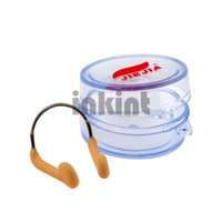 Wholesale Metal Skeleton Soft Silicone Swimming Nose Clip Clamp with Box BJ001P f