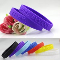 Wholesale Hot Sale Basketball sports wristbands silicone bracelet hand ring bracelet KOBE Lakers sport wrist band gift bracelets colors J010