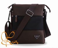 Wholesale Mens Nylon Messenger Bags Waterproof Canvas Fashion Style Contrast color Shoulder Bags Functional Business Bags Handbags