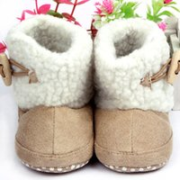 Wholesale Fashion Unisex Cotton Boots Infant Anti Slip Snow Boots Baby Shoes