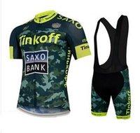 bicycle kit - New saxo Bank men s cycling jersey clothing set summer short sleeve jacket bib gel pad shorts kit summer bicycle sport clothes tops