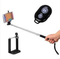 Cheap China supplier Bluetooth Selfie Remote Shutter + Telescopic Handheld Monopod For IOS Android system smartphones digital camera tablet