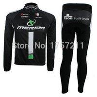 best thermal clothing - variety of styles Merida thermal long sleeve cycling jersey and pants set mountain bike riding clothing best sportswear