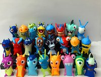 Wholesale Anime Cartoon cm Mini Slugterra PVC Action Figures Toys Dolls in opp bag Christmas gifts A