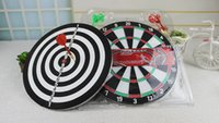 Wholesale 2015 So Hot Large double flocking upset aggravate dart plate with a dart