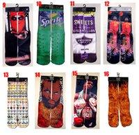 Men athletics picture - 3D ODD SOX socks Cotton Skateboard socks colorful thermal knee high socks stocking Harajuku d printed picture socks basketball men s socks