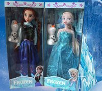 Wholesale 2014 New Arrival inch Frozen Musical Doll Anna and Princess Elsa with Olaf with music quot let it go quot Best Music Toys For kids baby girls